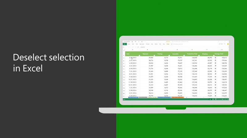 Deselect selection in Excel on Win32
