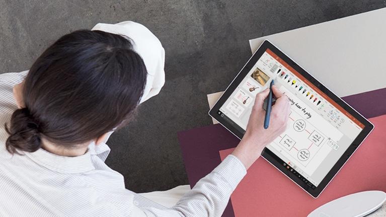 イラストやテキスト用の賢いデジタル ペン windows ink microsoft