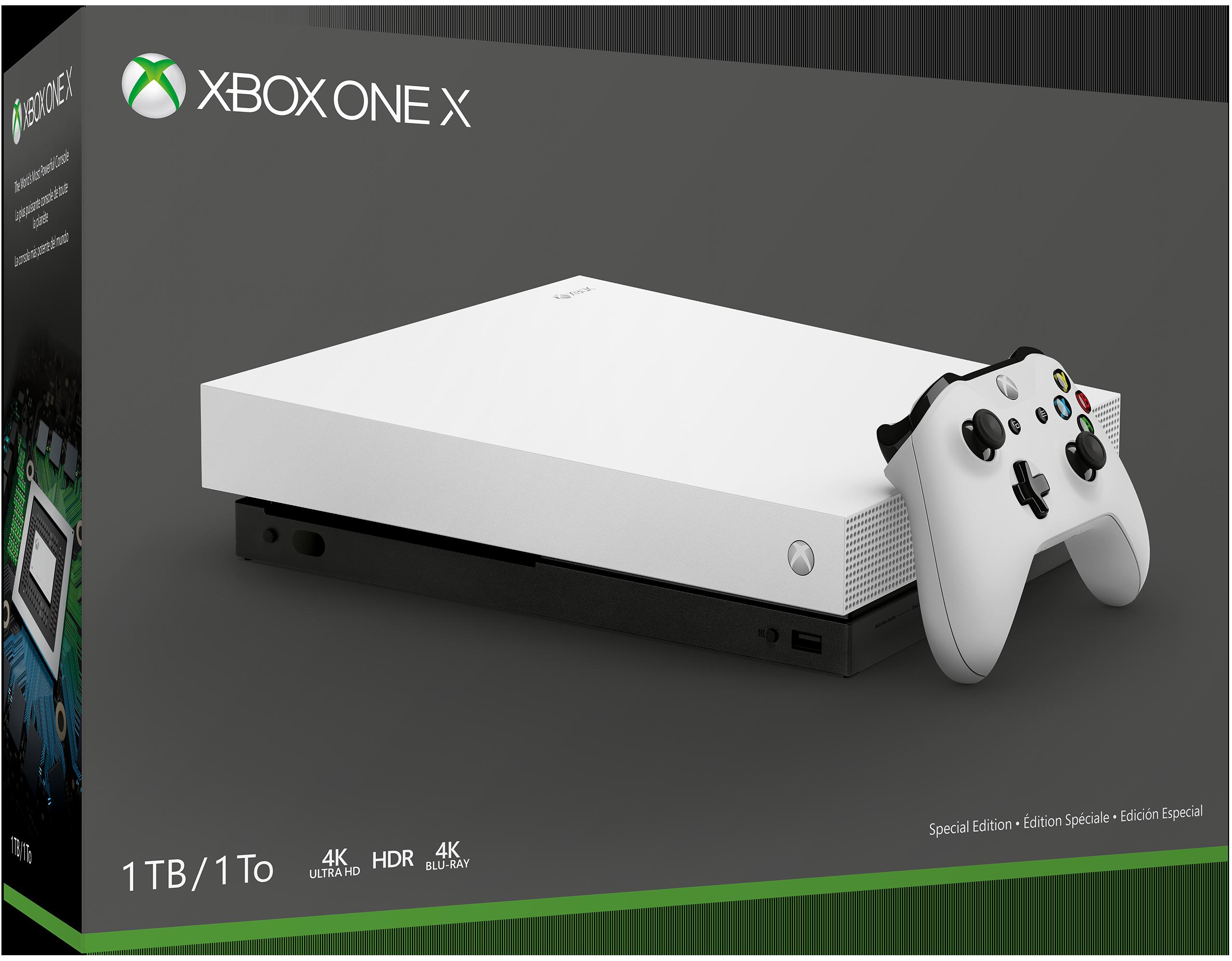 Xbox One X Robot White スペシャル エディション 1 TB 本体