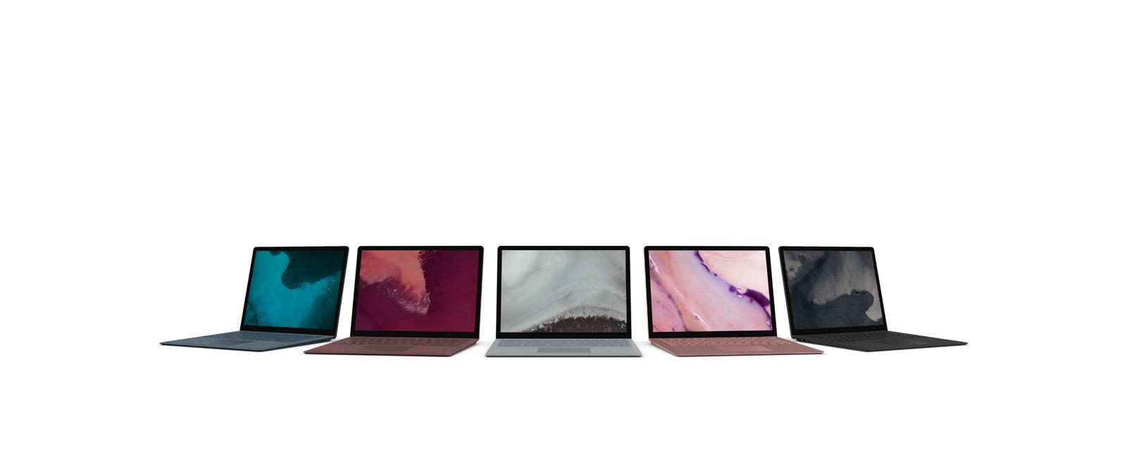全部颜色的 Surface Laptop 2