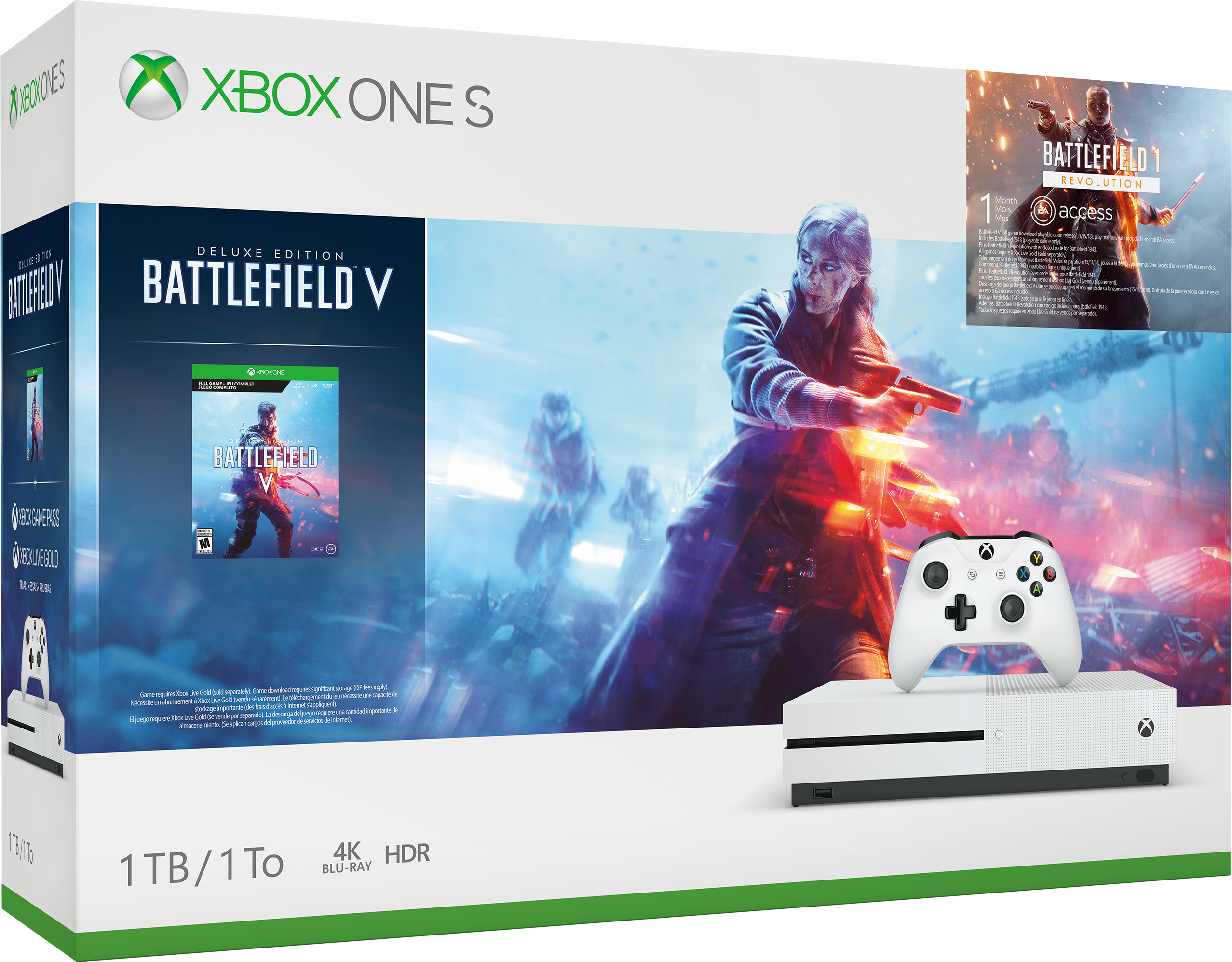 Xbox One S Battlefield V – Verpackungsdesign