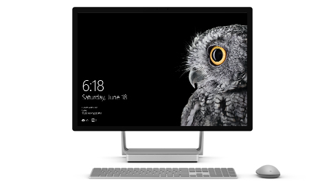 Surface Studio in desktop mode.