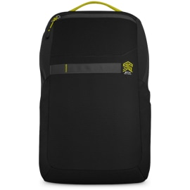 Front view of the STM Saga Backpack in Black