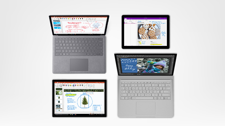 Surface Go, Surface Pro, Surface Book 2
