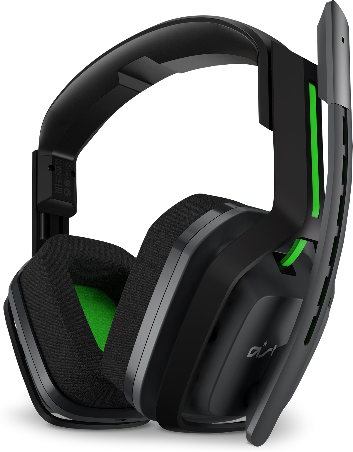 Right front view of Logitech A20 wireless headset for Xbox One