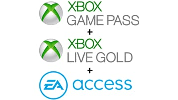 Logos Xbox Game Pass, Xbox Live Gold et EA Access