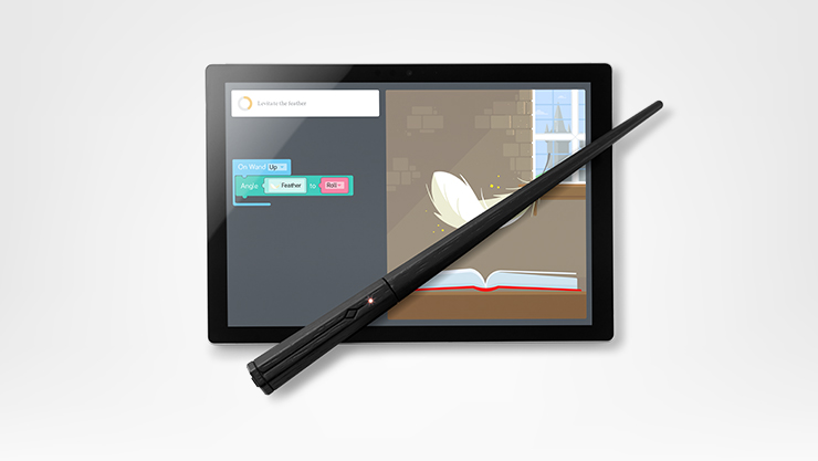 A tablet and a Harry Potter Coding Kit