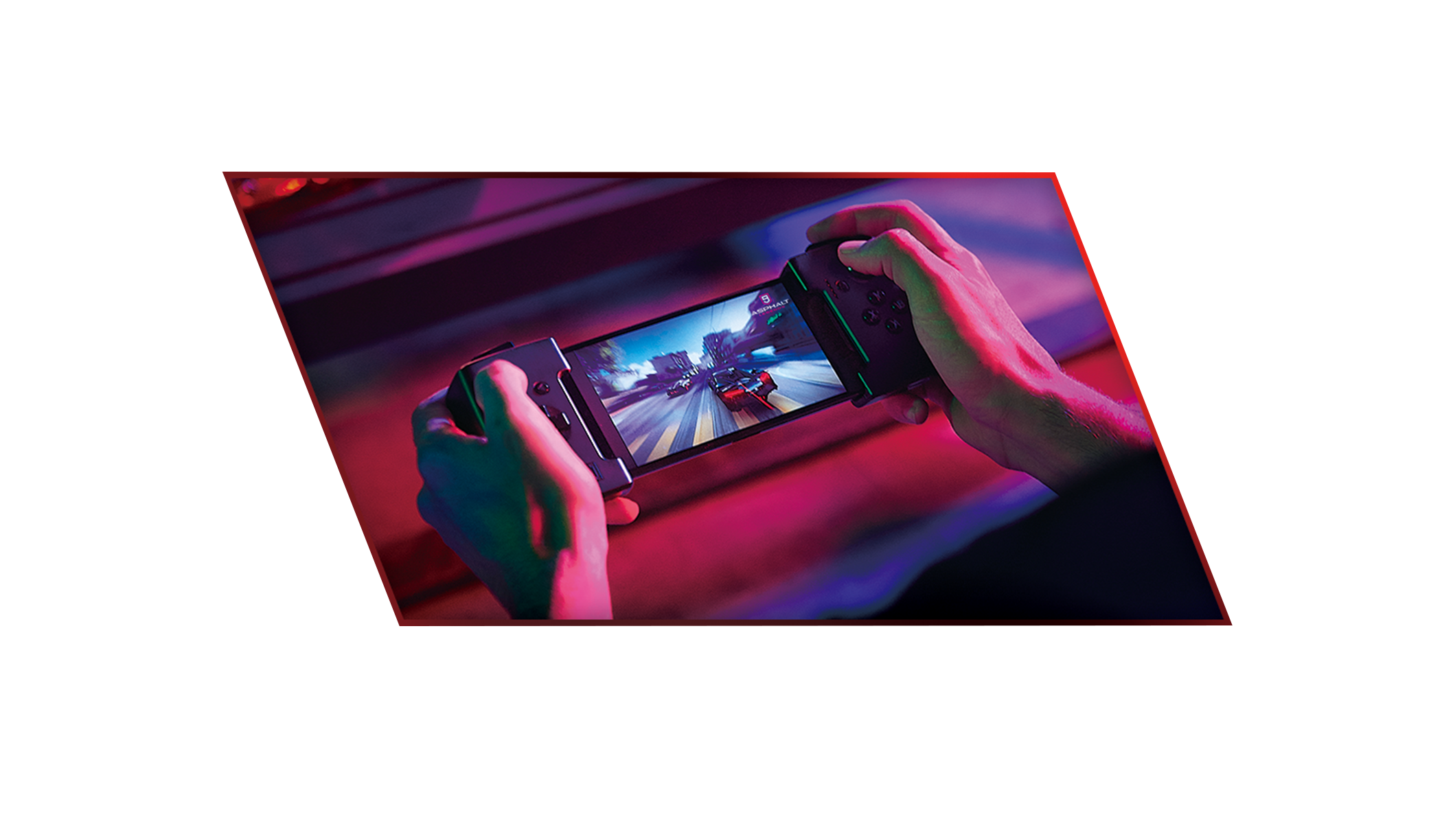 Asus ROG Game Vice Controller being played