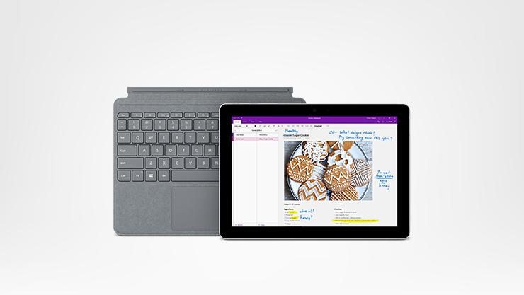 Surface Go 4G+ avec Clavier Type Cover Platinium