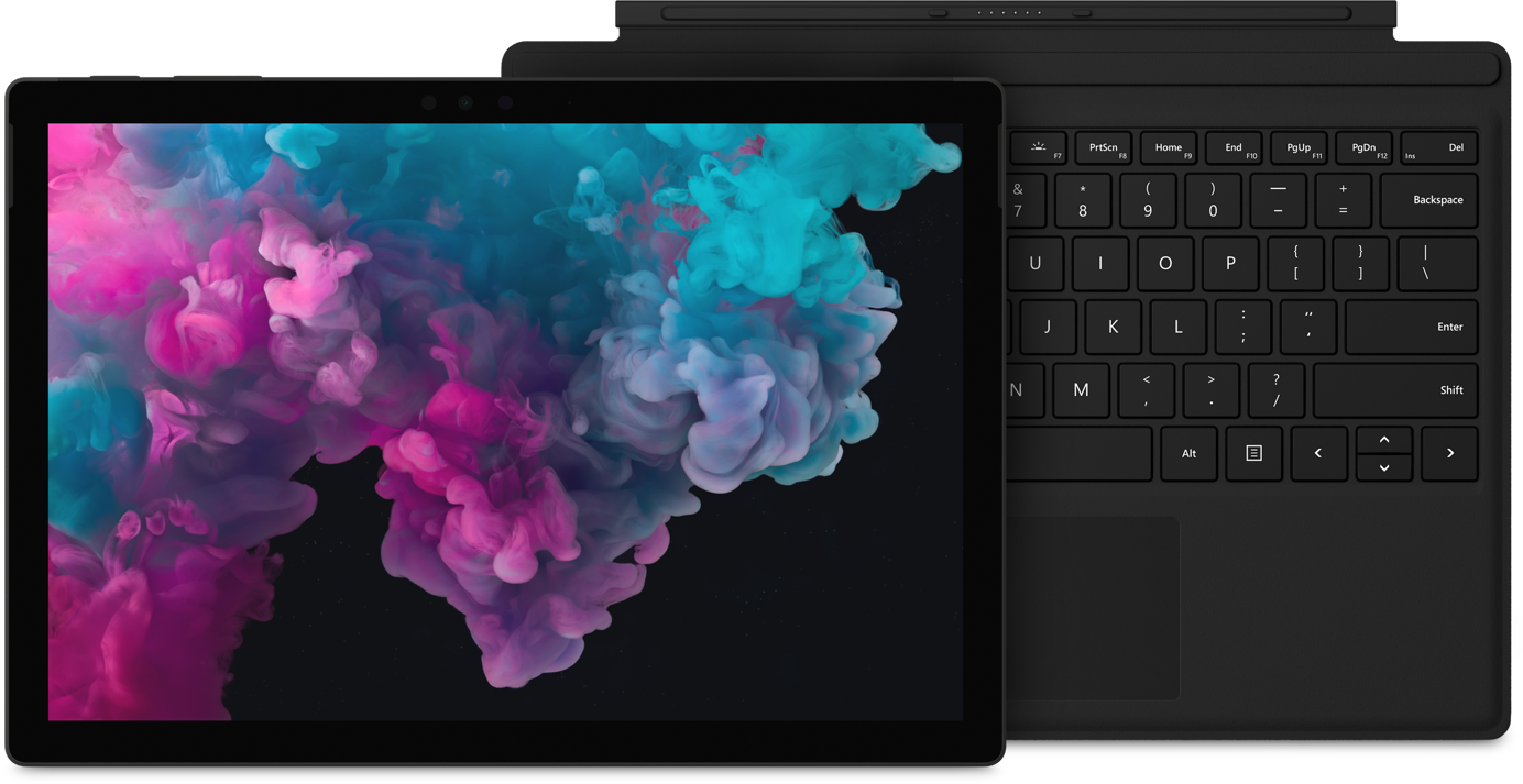 Surface Pro 6 and Type Cover in black