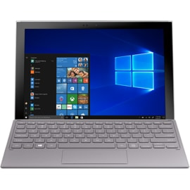Front view of Samsung Galaxy Book 2 with Windows screen