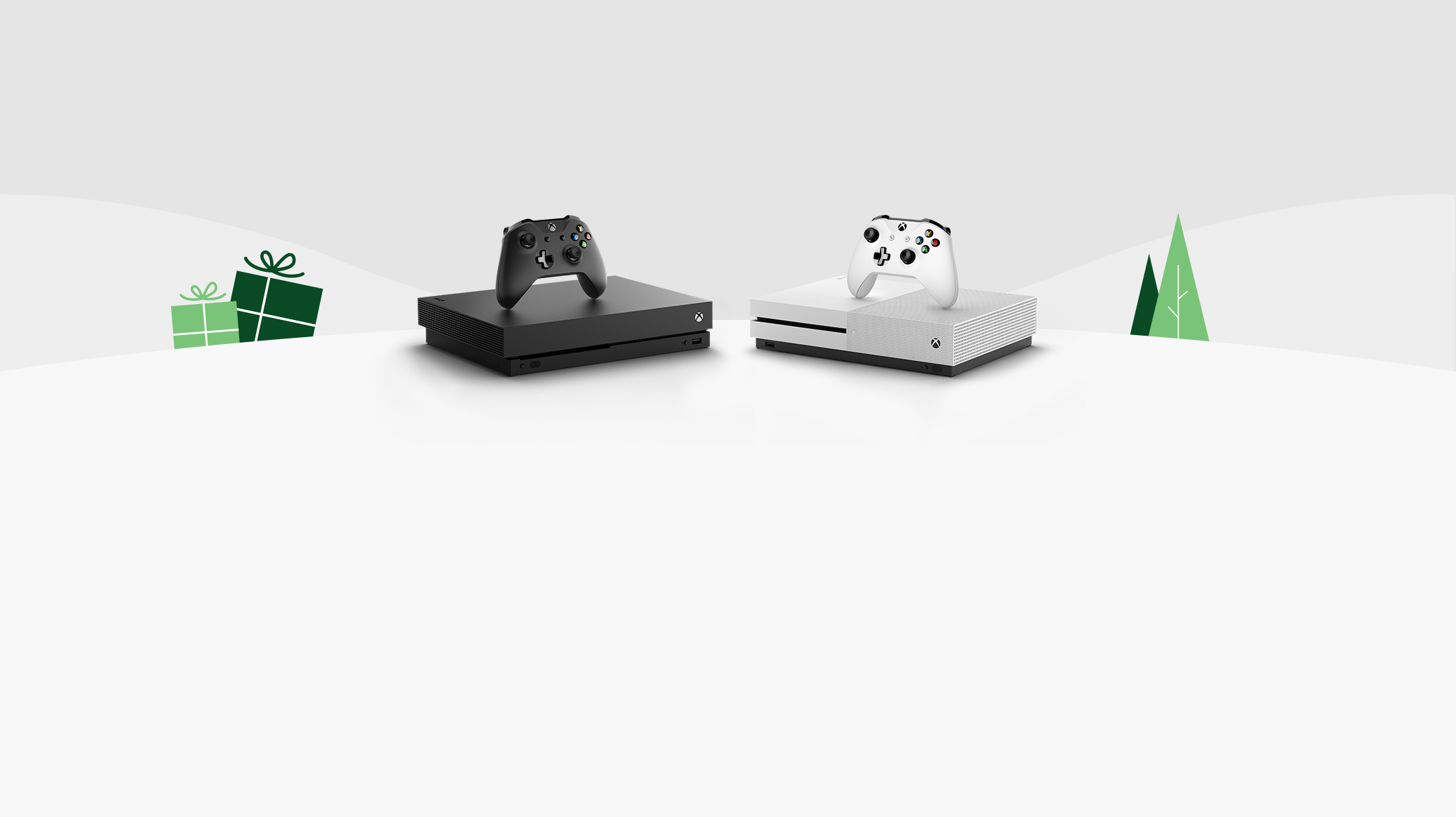 An Xbox One X and an Xbox One S