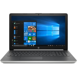HP 15-DA0073MS Laptop open, from a side angle