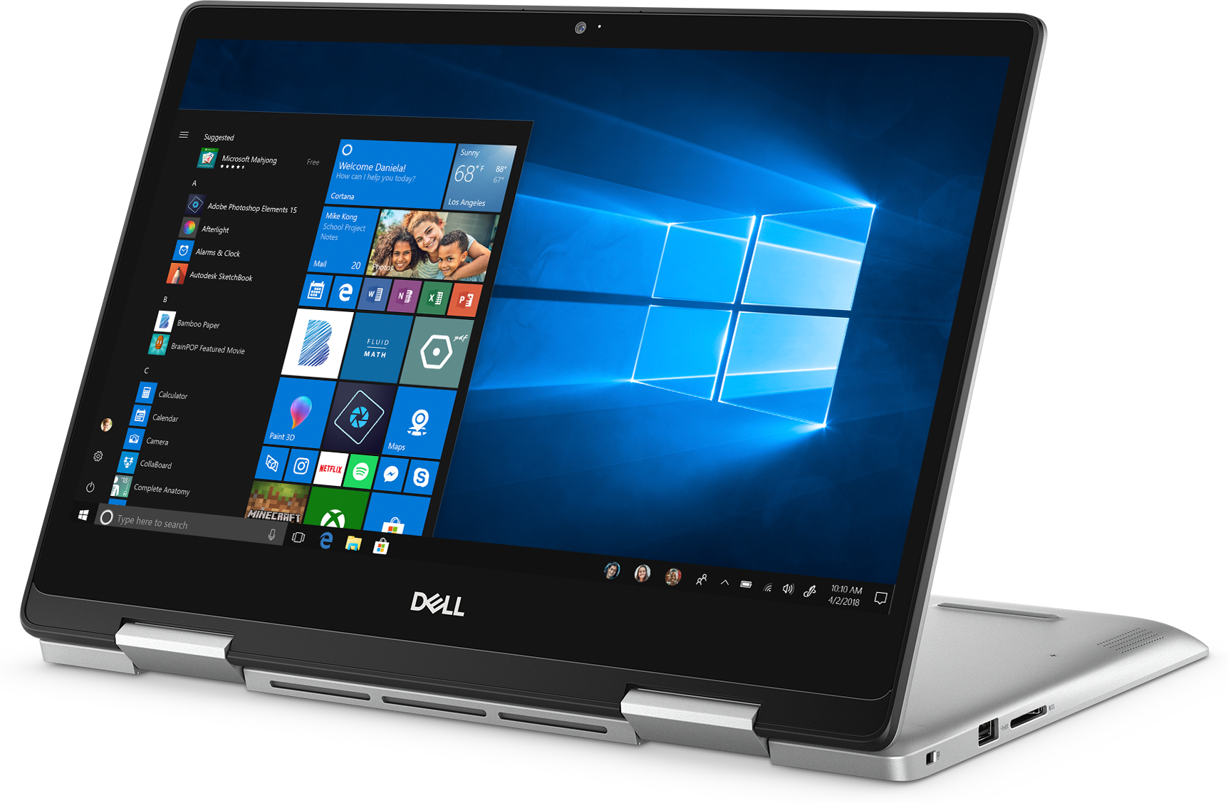 Front left view of the Dell Inspiron 14