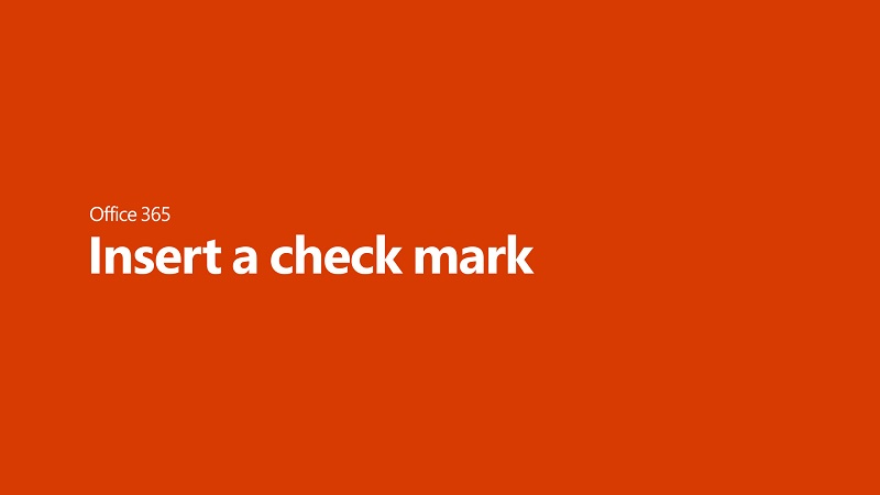 Insert A Check Mark Or Other Symbol Office Support
