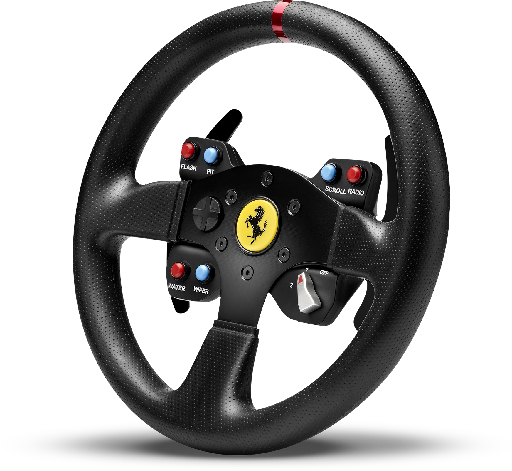 Front view of Thrustmaster Ferrari 458 Challenge Wheel Add-On for T500RS, F1 Wheel & TX Racing