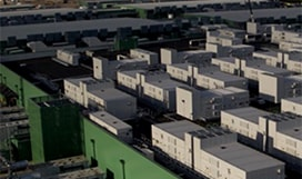 Aerial photograph of buildings that house datacenters
