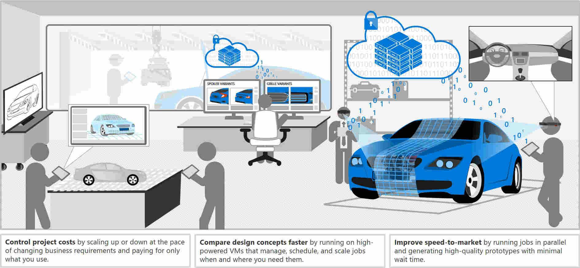 Automobile servicing illustration