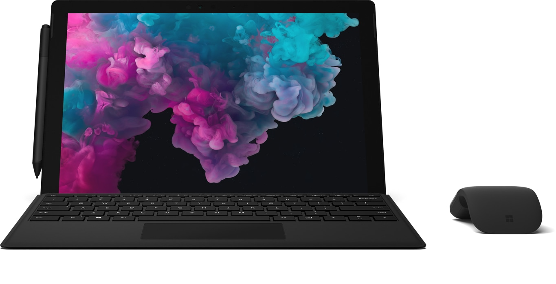 Surface Pro 6, Type Cover, Pen, Surface Arc Mouse