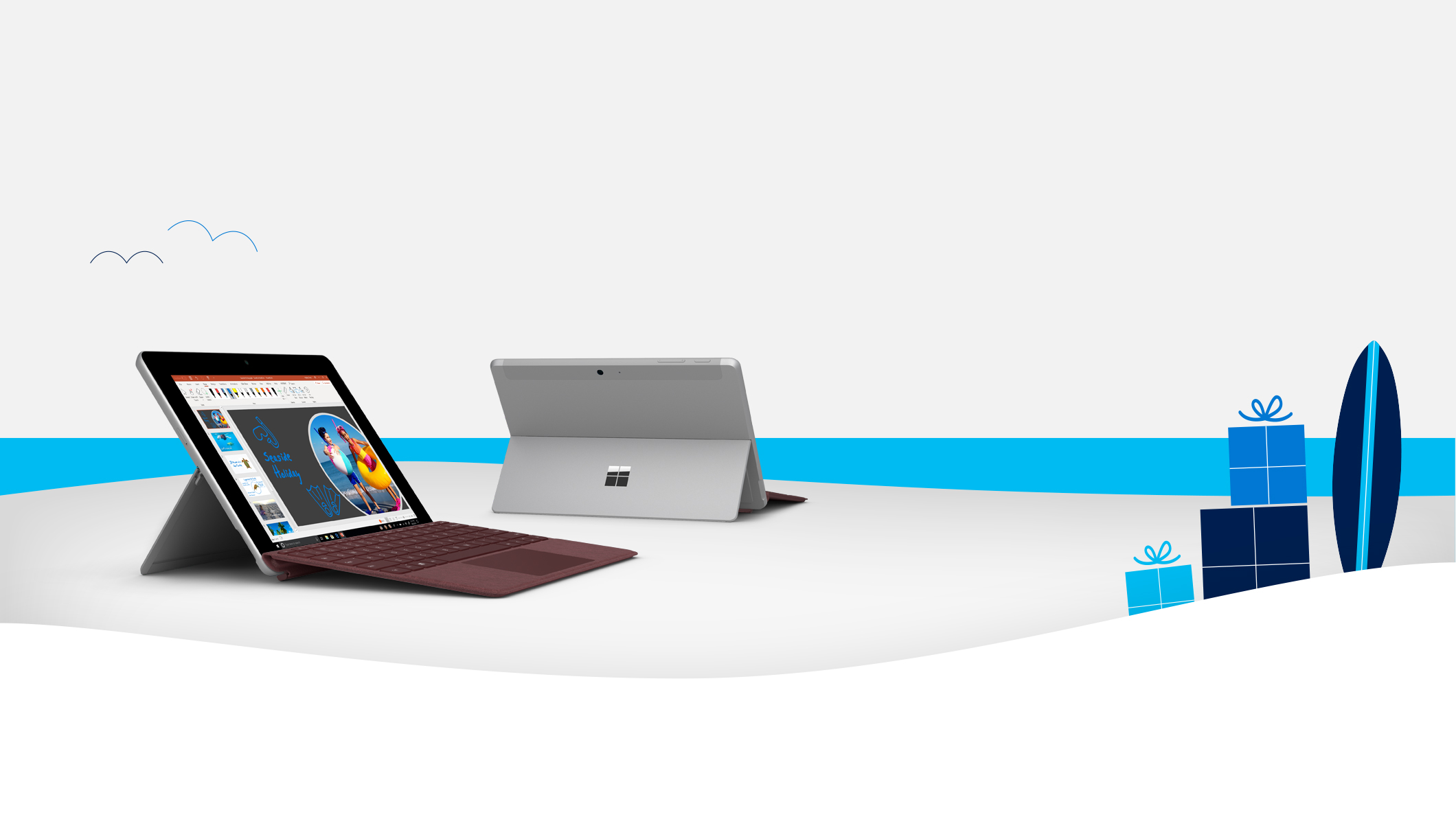 2 Surface Go devices