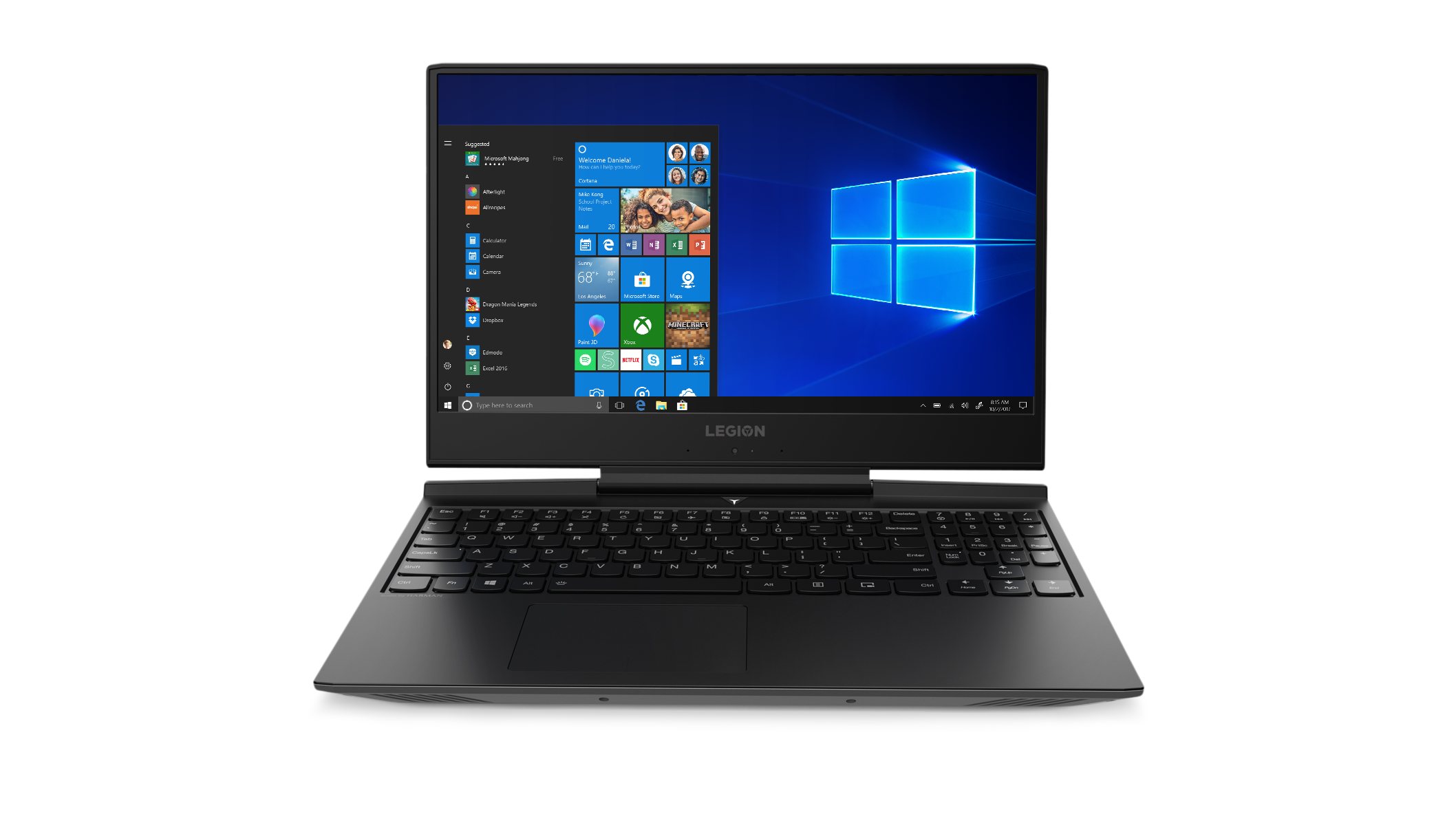 Front view of the Lenovo Legion laptop