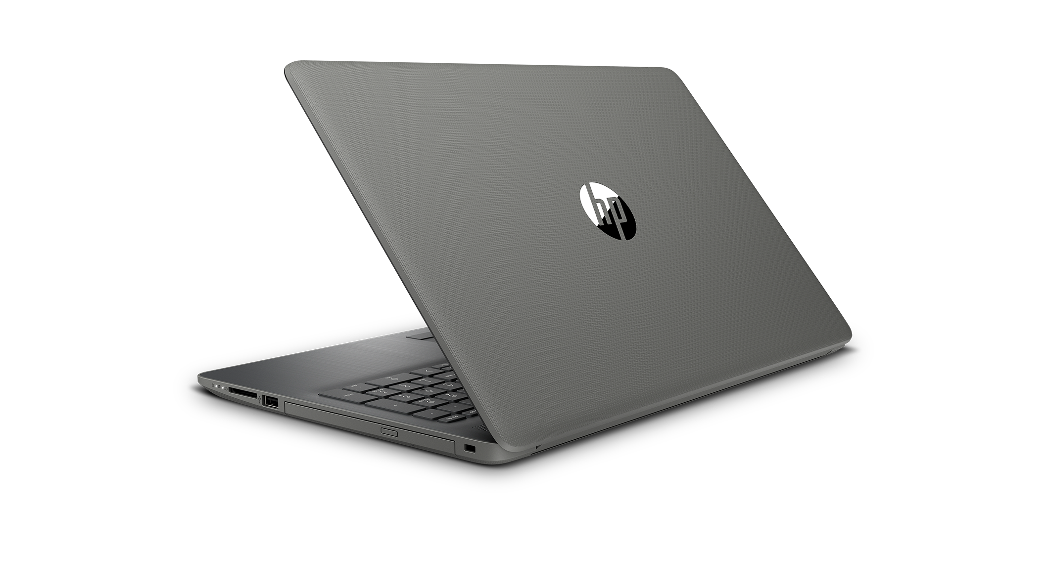 Left rear view of the HP 15 laptop