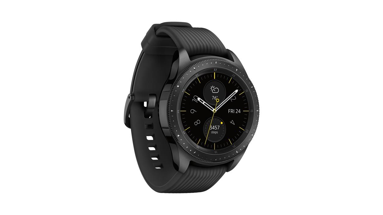 Samsung Galaxy Watch in Midnight Black.
