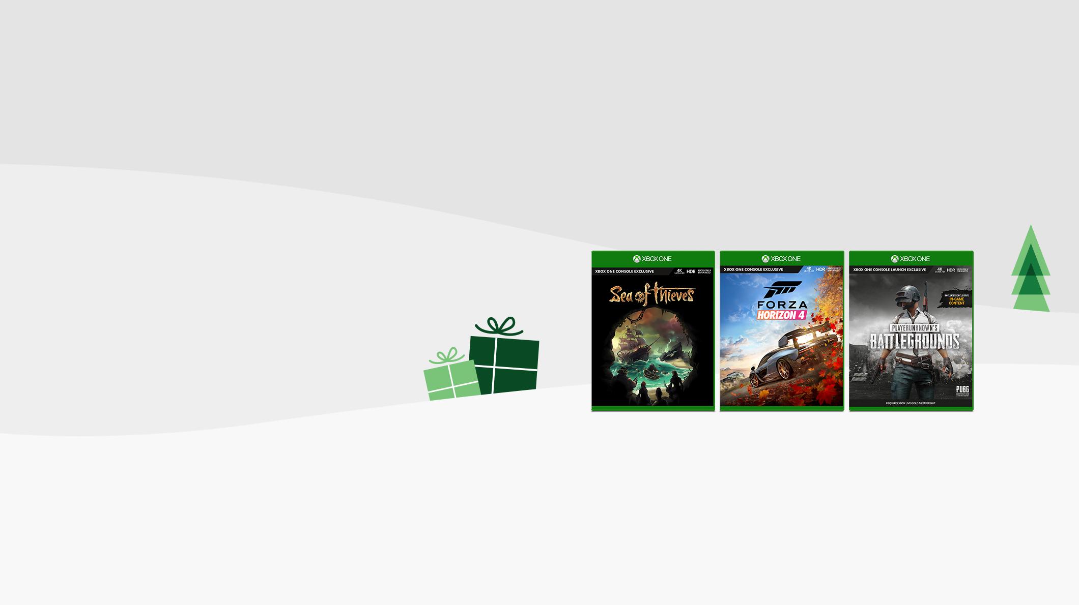 Sea of Thieves, Forza Horizon 4, Playerunknown Battlegrounds