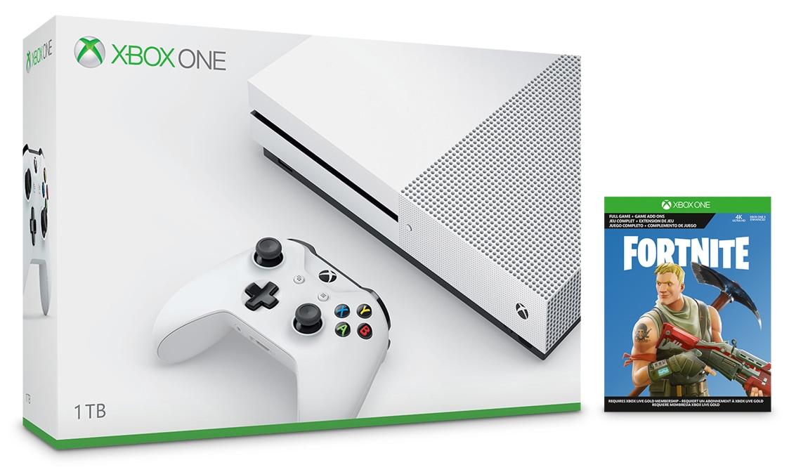 Xbox One S 1TB Console – Fortnite Bundle