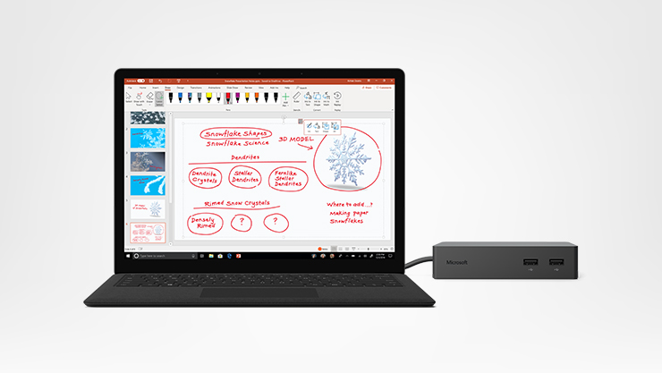Surface Laptop 2 mit Dock