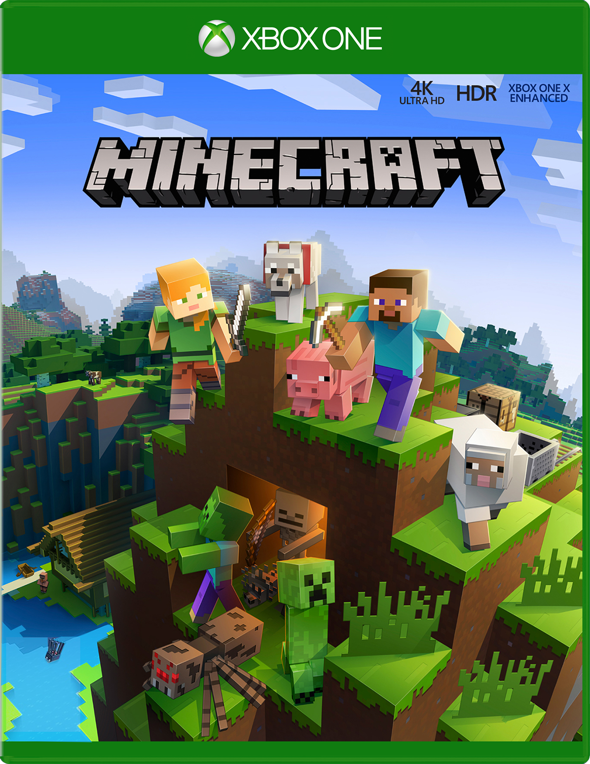 Front view of Minecraft Xbox One X Enhanced Game