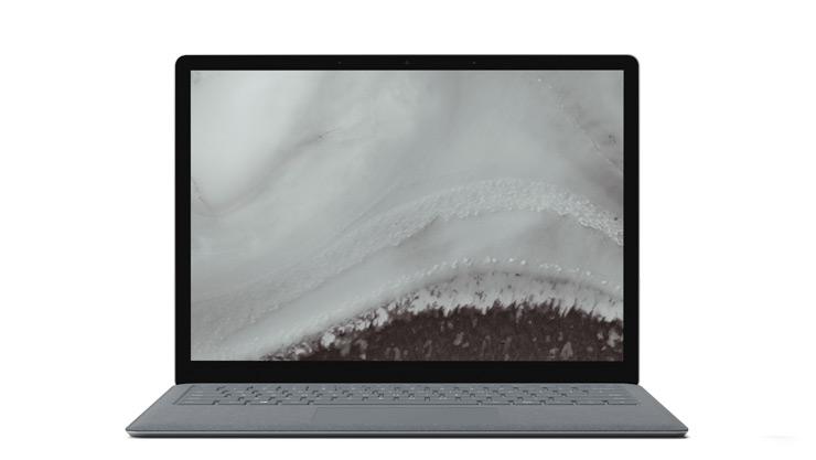 การแสดงอุปกรณ์ Surface Laptop 2