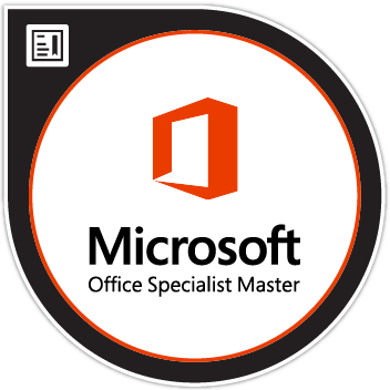 Microsoft Office Specialist Master Microsoft Office 2016 badge