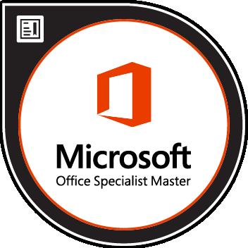 Badge de Microsoft Office Specialist Master sur Microsoft Office 2016