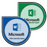 Badge de Microsoft Office Specialist Expert sur Microsoft Office 2016