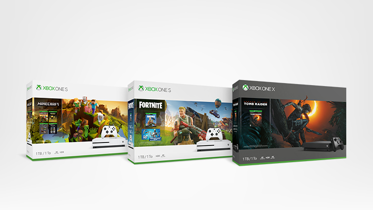 Packs Xbox One S Fortnite et Xbox One X Forza Horizon 4