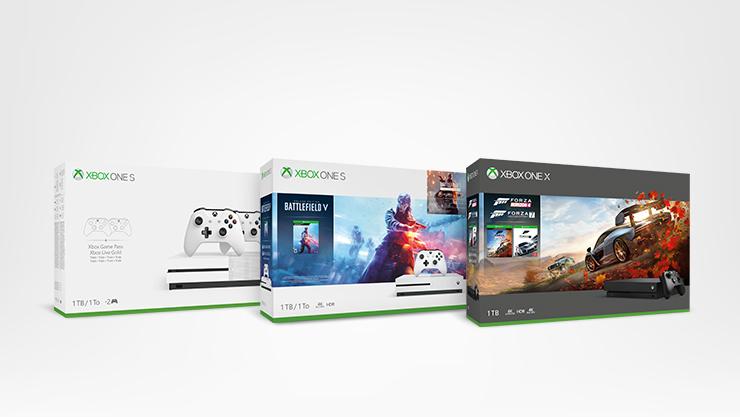 Consoles Xbox One S et Xbox One X