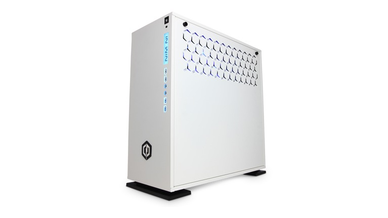 dffefb86b4d CyberPower PC Gamer Supreme Liquid Cool SLC3400MST Gaming PC facing left