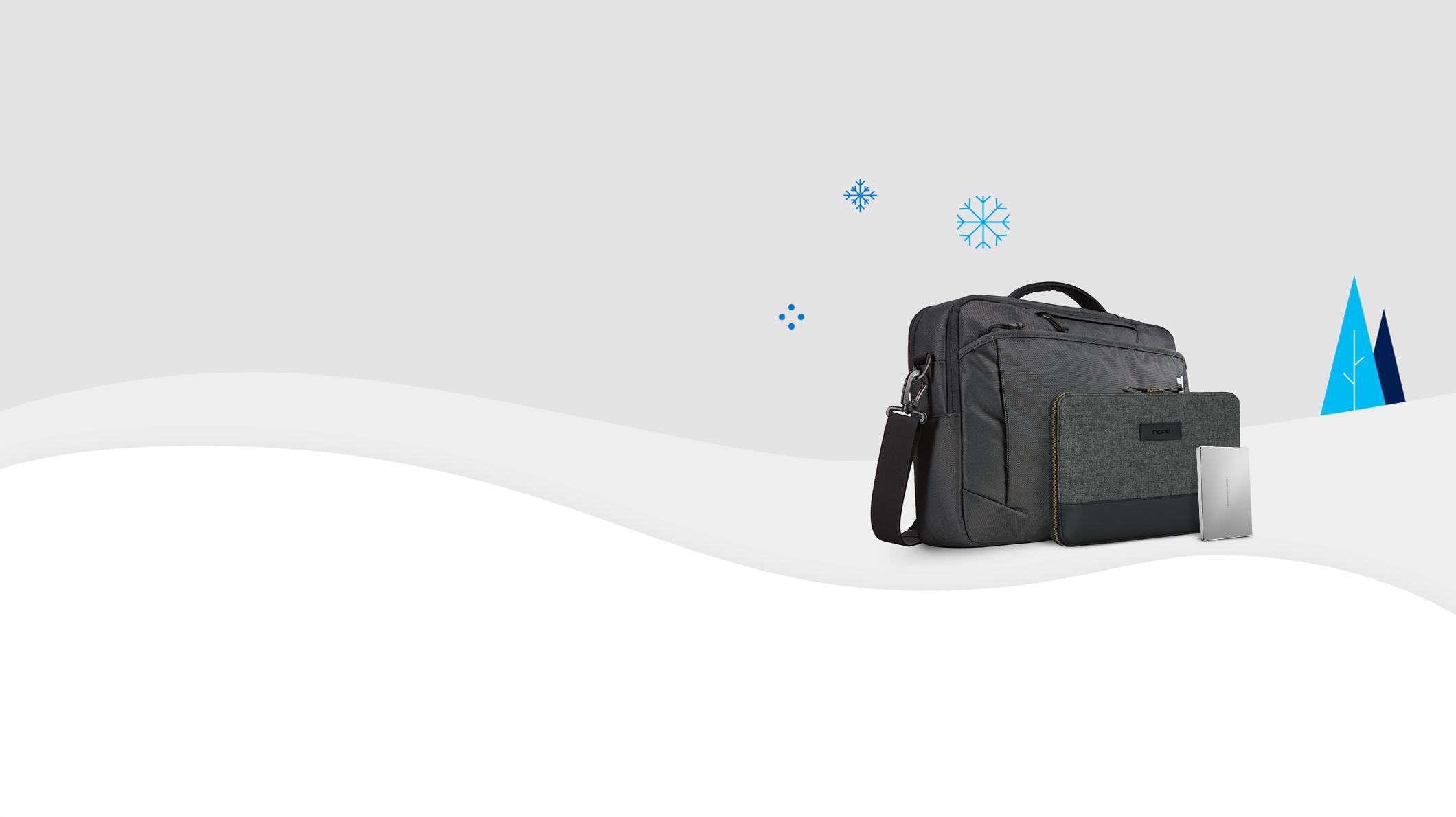 Taschen und externe Festplatte