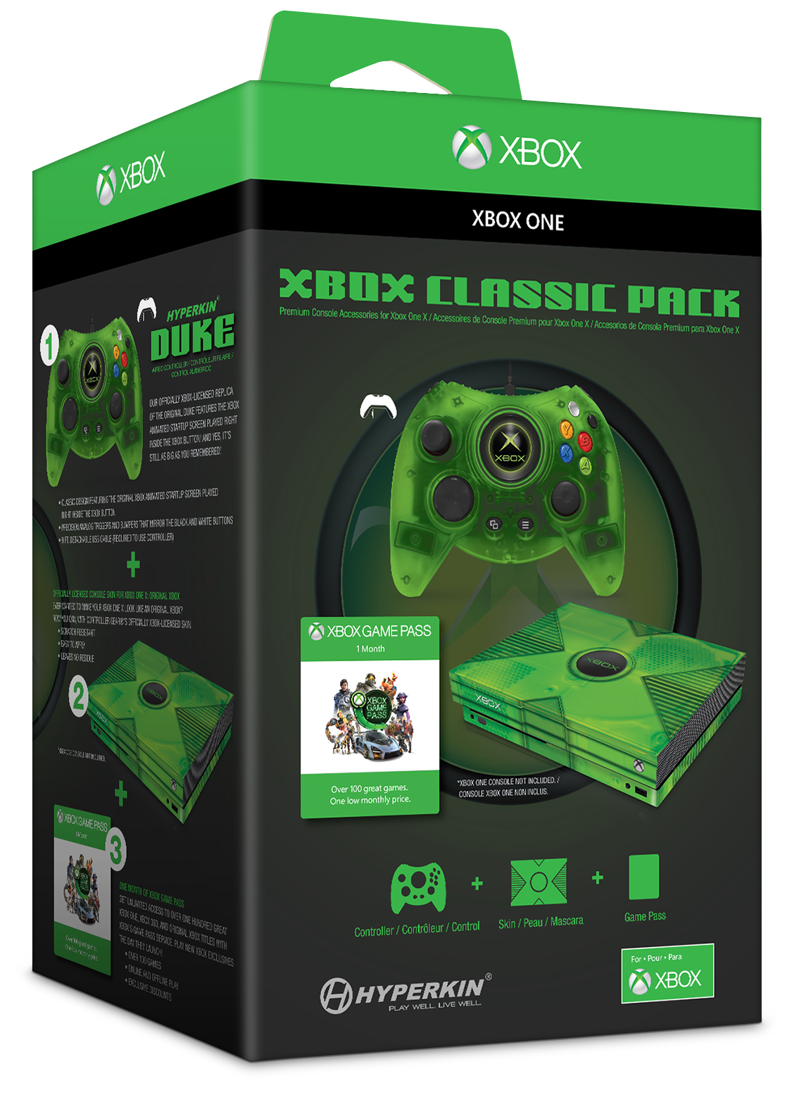 green Xbox controller in packaging
