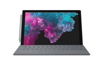 Device Render of Surface Pro 6  with Surface Pro Type Cover