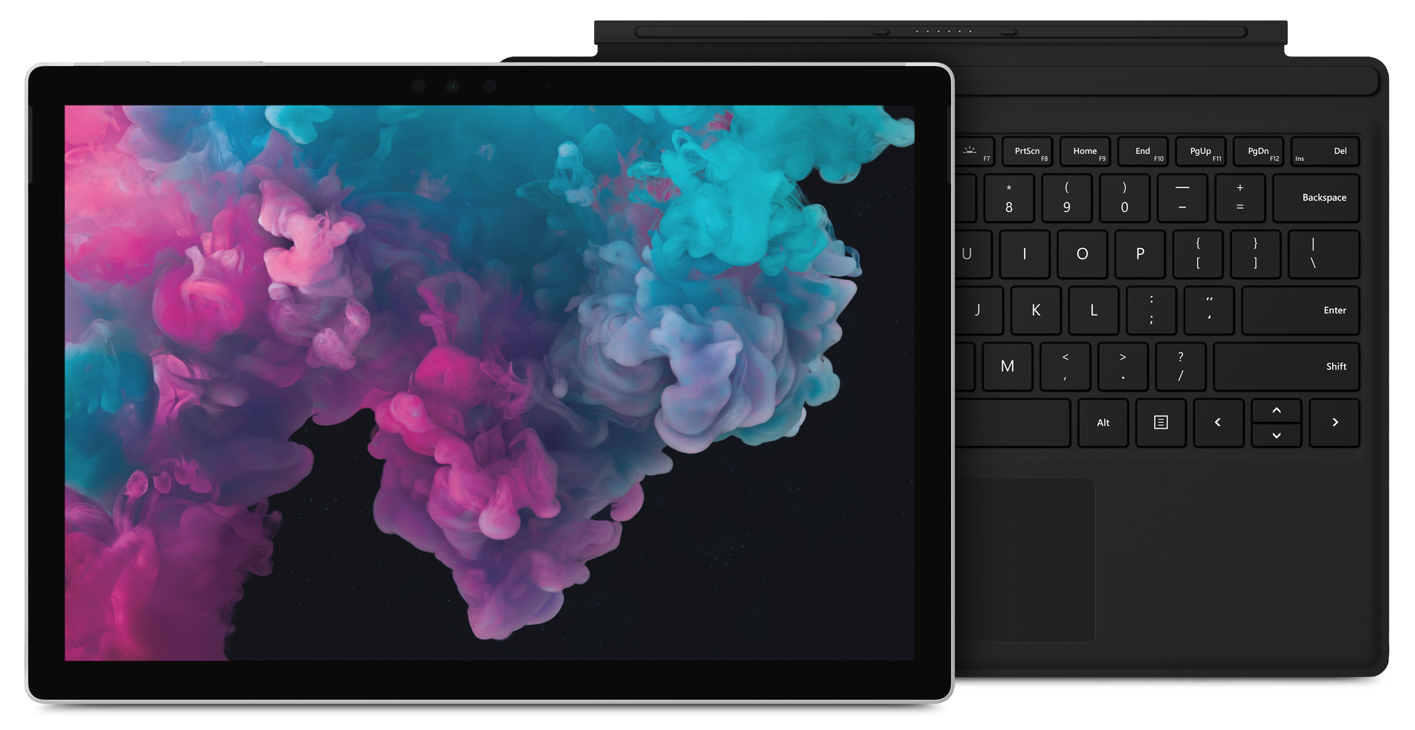 Surface Pro 6 and black Type Cover bundle