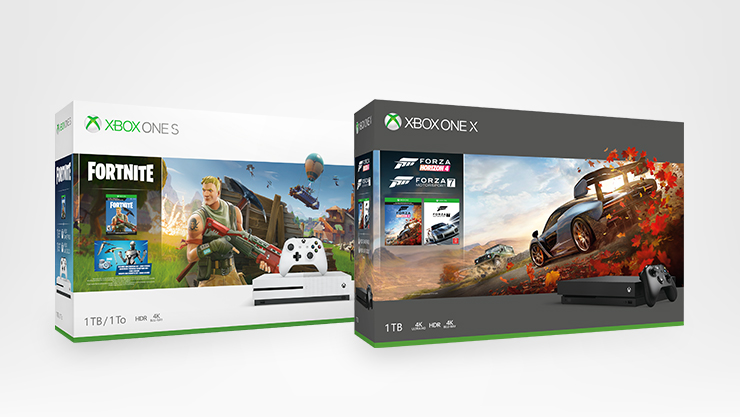 Xbox One S Fortnite und Xbox one X Forza Horizon 4