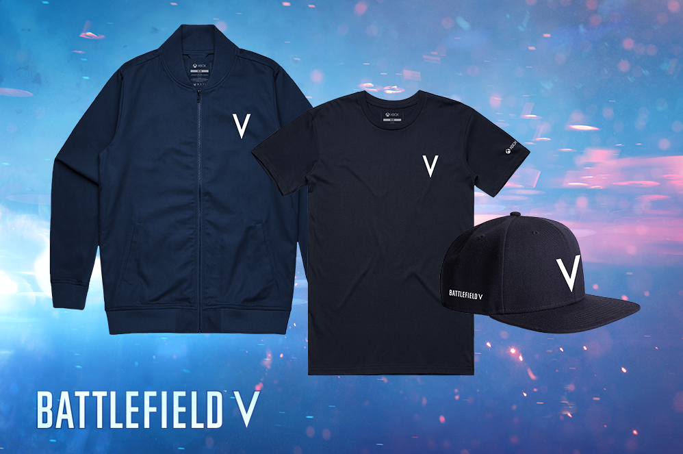 Battlefield V Xbox Tee, Snapback Hat, and Bomber Jacket