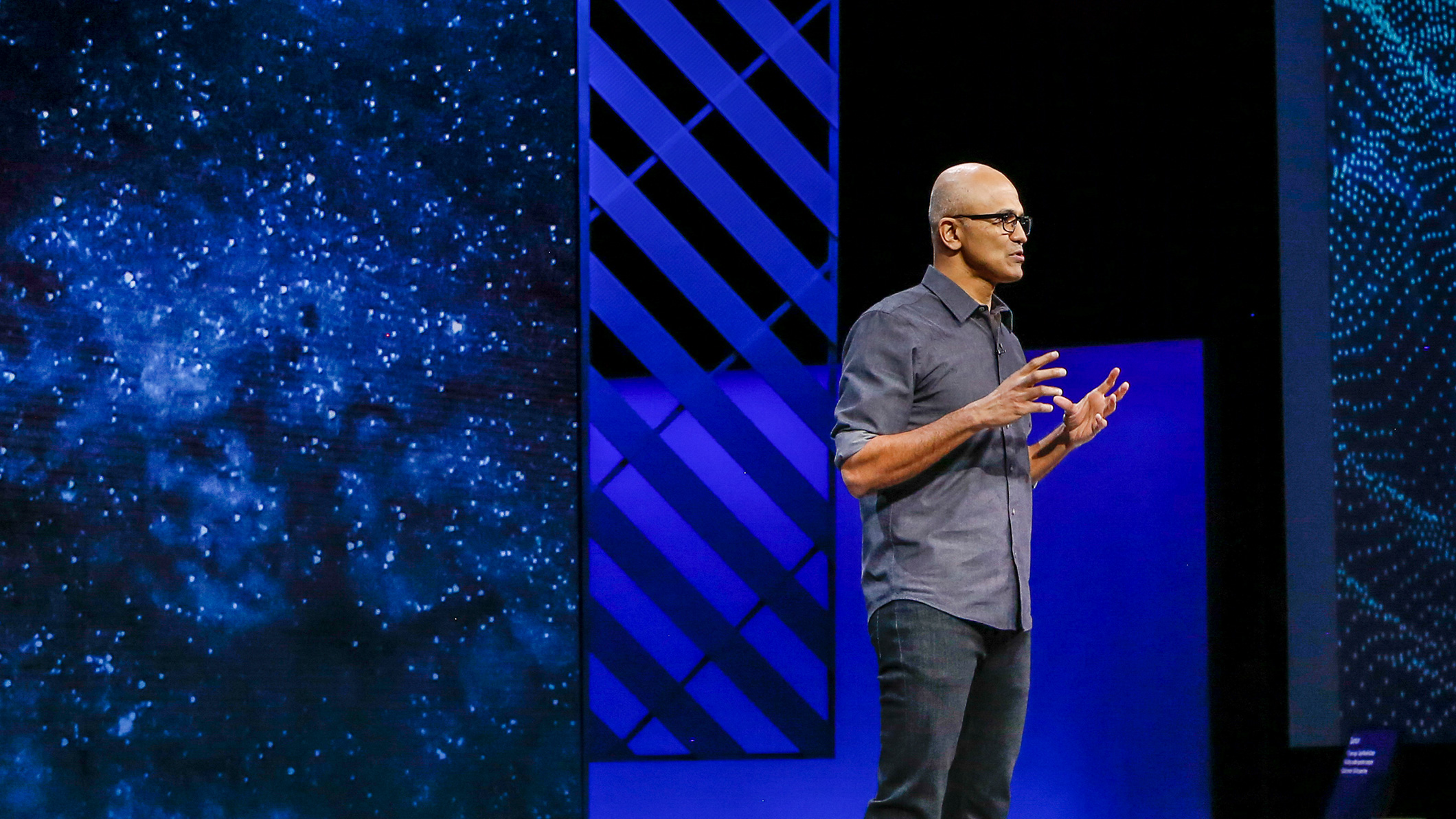 Satya Nadella giving a presentation