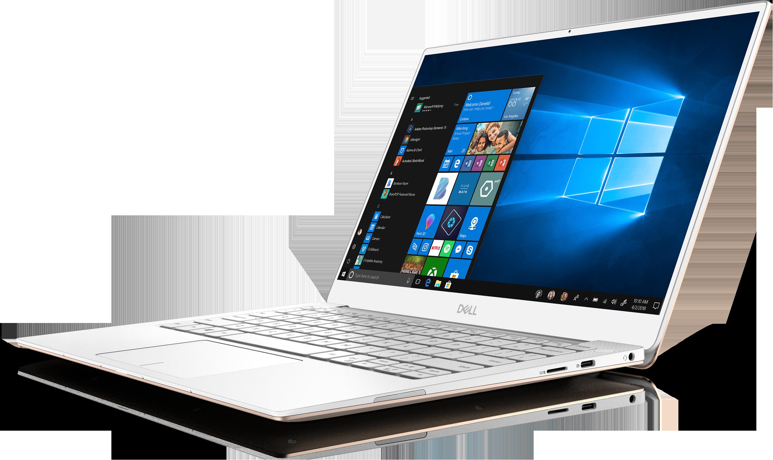 Gold Dell XPS 13 laptop.