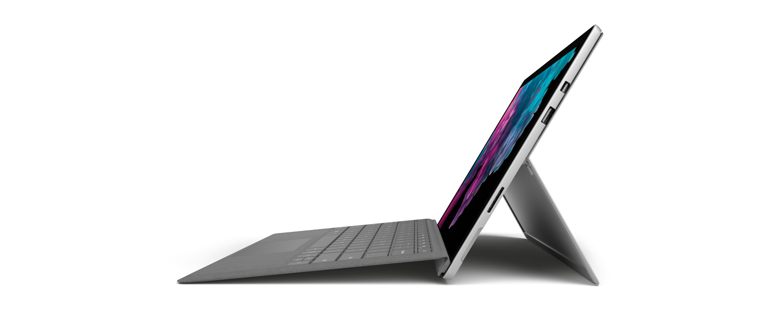 Profile view of Surface Pro 6 (Platinum)