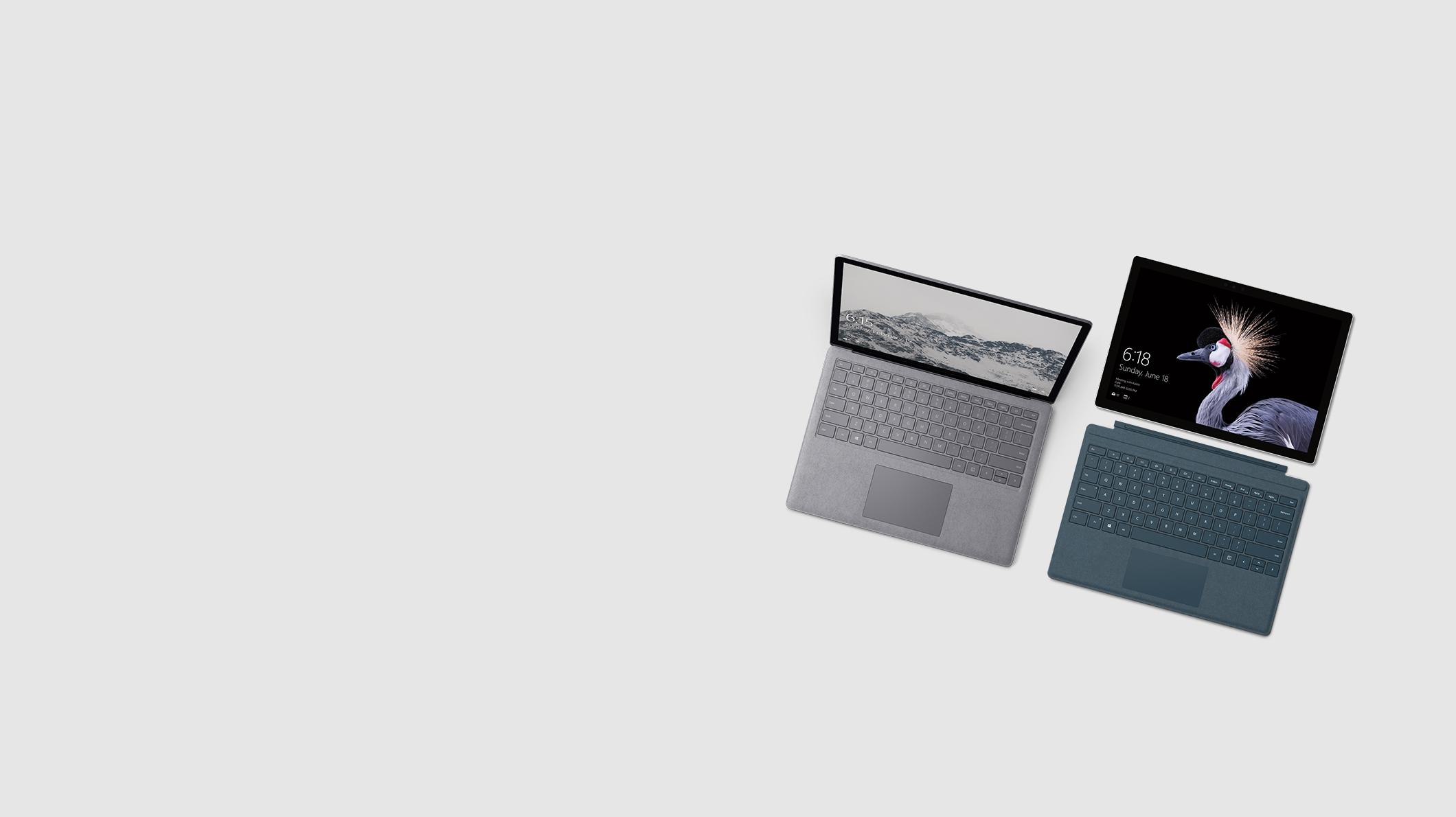 Surface Pro e Surface Laptop