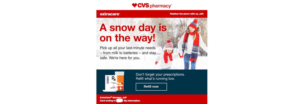 Image example of a marketing email