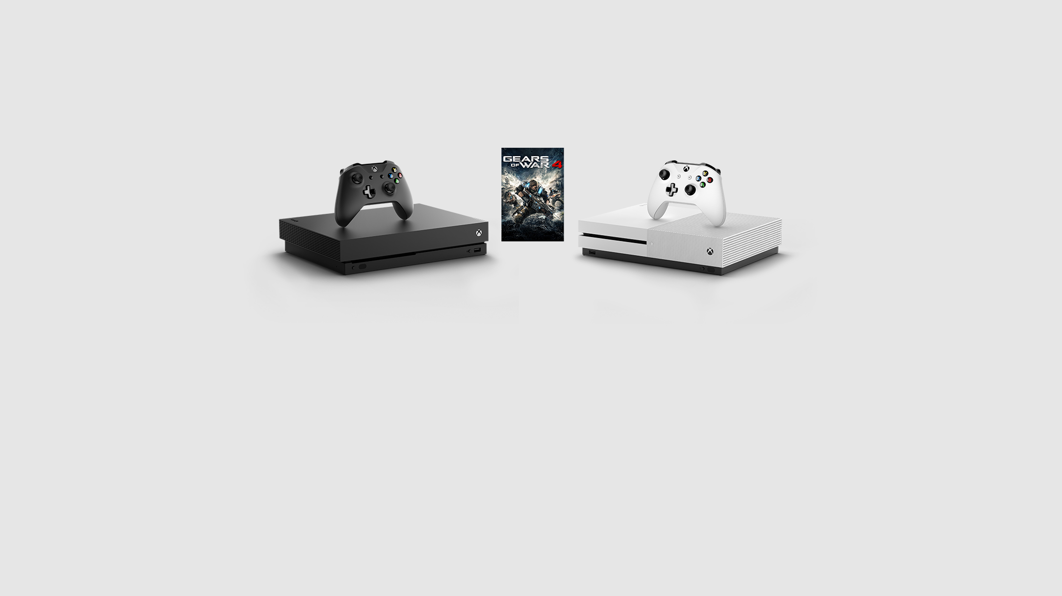 Xbox One X and Xbox One S consoles, and Gears of War digital game for Xbox One.